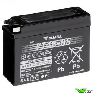 YUASA YT4B-BS Battery 12V 2,4Ah - Suzuki DRZ70 Yamaha TT-R90