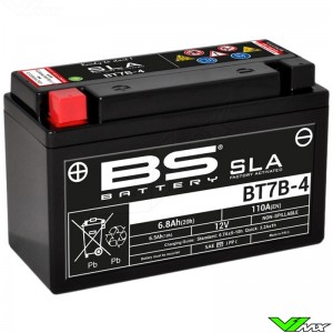 BS Battery BT7B-4 SLA Battery 12V 6.5Ah - Kawasaki KLX400 Suzuki DRZ400 Yamaha TT-R250