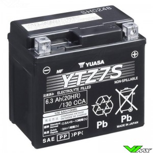 YUASA BTZ7S Battery 12V 6,3Ah - Kawasaki Suzuki Honda Yamaha Husqvarna GasGas Husaberg