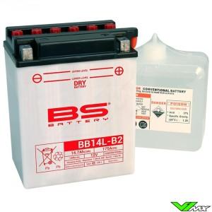 BS Battery BB14L-A2 Accu 12V 14,7Ah - Kawasaki KLR650Tengaï