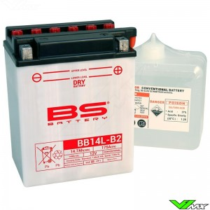 BS Battery BB14L-A2 Battery 12V 14,7Ah - Kawasaki KLR650Tengaï