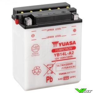 YUASA YB14L-A2 Battery 12V 14,7Ah - Kawasaki KLR650Tengaï