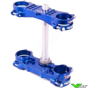 X-trig ROCS Tech Triple Clamp Blue - Yamaha YZ250