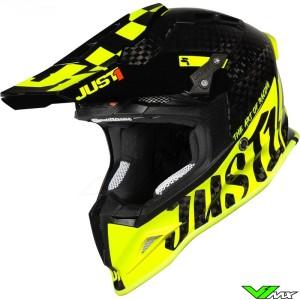 Just1 J12 Motocross Helmet - Pro Racer / Fluo Yellow / Carbon