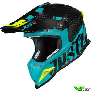 Just1 J12 Crosshelm - Pro Racer / Blauw / Carbon