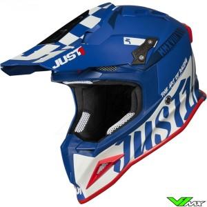 Just1 J12 Crosshelm - Pro Racer / Blauw / Wit