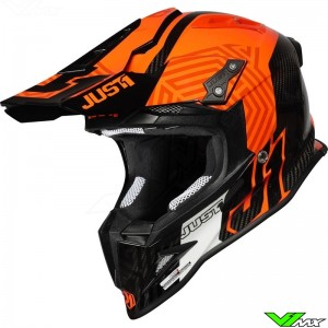 Just1 J12 Crosshelm - Syncro / Fluo Oranje / Carbon