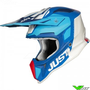 Just1 J18 Crosshelm - Pulsar / Blauw / Rood