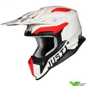 Just1 J18 Motocross Helmet - Virtual / Fluo Red / White