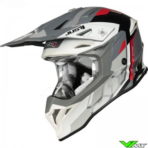 Just1 J39 Motocross Helmet - Reactor / Grey / Red