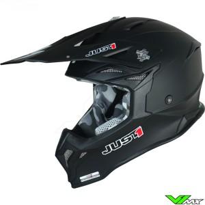 Just1 J39 Crosshelm - Solid / Mat Zwart
