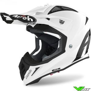 Airoh Aviator Ace Motocross Helmet - White