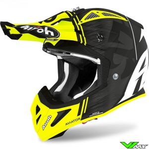 Airoh Aviator Ace Motocross Helmet - Kybon / Fluo Yellow