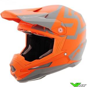 6D ATR-1 Motocross Helmet - Switch / Grey / Orange / Mat