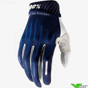 100% Ridefit Motocross Gloves - Navy