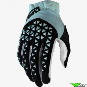 100% Airmatic Motocross Gloves - Sky / Blue