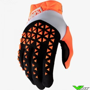 100% Airmatic Motocross Gloves - Orange