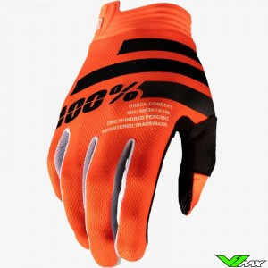 100% iTrack Youth Motocross Gloves - Orange