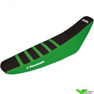 Zadelovertrek Blackbird Zebra zwart/groen - Kawasaki KXF250 KXF450