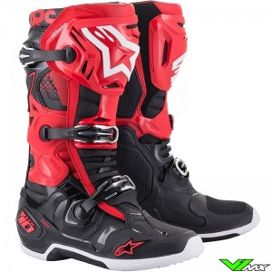 Alpinestars TECH 10 Motocross Boots - Red / Black