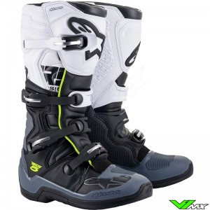 Alpinestars TECH 5 Motocross Boots - Black / Dark Grey / White