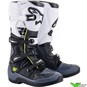 Alpinestars TECH 5 Motocross Boots - Black / Dark Grey / White