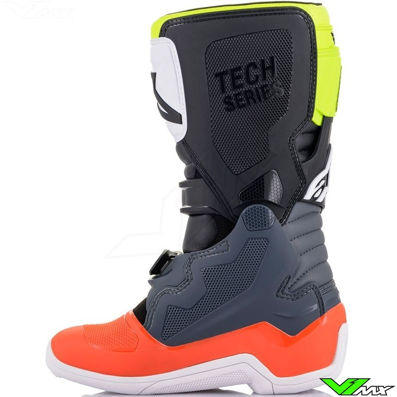 ALPINESTARS YOUTH TECH 7S BOOTS GREY//RED SIZE 02