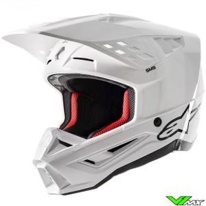 Alpinestars S-M5 Motocross Helmet - White / Gloss