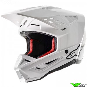 Alpinestars S-M5 Solid Crosshelm - Wit / Glans