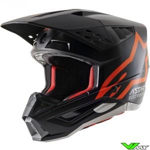 Alpinestars S-M5 Motocross Helmet - Black / Fluo Orange / Mat