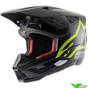 Alpinestars S-M5 Motocross Helmet - Black / Fluo Yellow / Mat