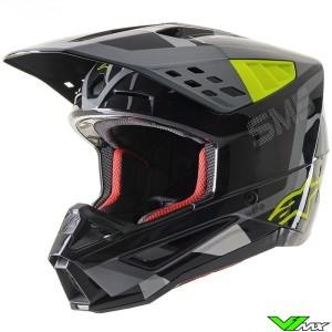 Alpinestars S-M5 Motocross Helmet - Anthracite / Fluo Yellow / Grey / Camo