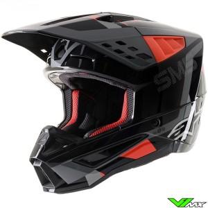 Alpinestars S-M5 Motocross Helmet - Anthracite / Fluo Red / Grey / Camo