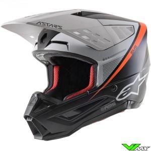 Alpinestars S-M5 Motocross Helmet - Black / White / Fluo Orange / Mat