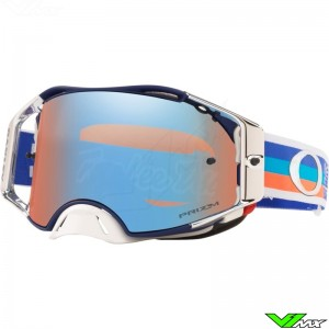 Oakley Airbrake Crossbril - TLD PreMix BlauwOranje - Prizm Sapphire Lens
