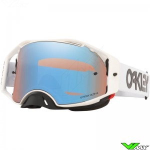 Oakley Airbrake Motocross Goggle - Factory Pilot White - Prizm Sapphire Lens