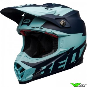 Bell Moto-9 Flex Breakaway Motocross Helmet - Navy / Light Blue / Mat