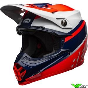 Bell Moto-9 Prophecy Motocross Helmet - Fluo Red / Navy / Grey