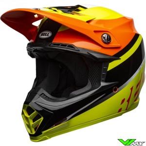 Bell Moto-9 Prophecy Motocross Helmet - Fluo Yellow / Orange