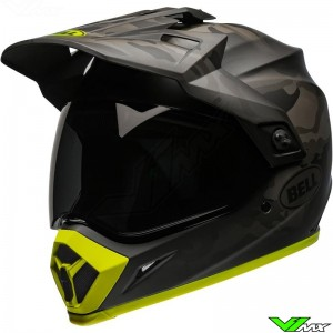 Bell MX-9 Adventure Enduro Helmet - Stealth Camo / Black / Mat / Fluo Yellow