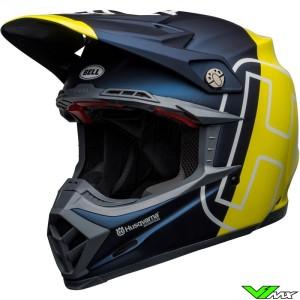 Bell Moto-9 Flex Husqvarna Gotland Motocross Helmet - Blue / Fluo Yellow