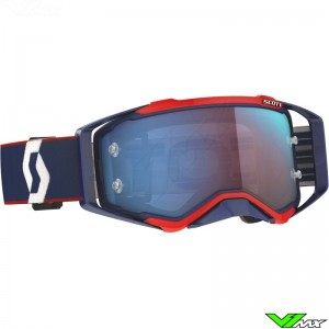 Scott Prospect Motocross Goggle - Retro / Blue / Red