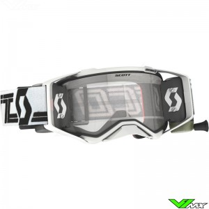 Scott Prospect WFS Super Motocross Goggle with Roll-off - White