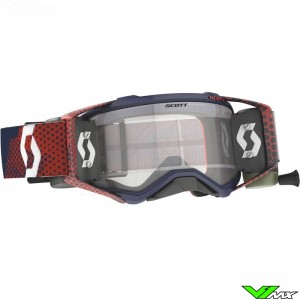 Scott Prospect WFS Motocross Goggle with Roll-off - Red / Blue