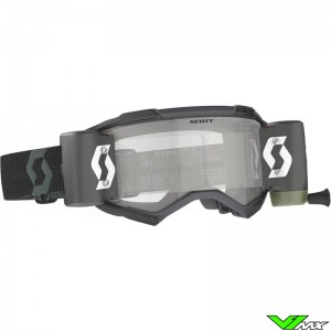 Scott Fury WFS Motocross Goggle with Roll-off - Black