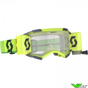 Scott Fury WFS Motocross Goggle with Roll-off - Blue / Fluo Yellow