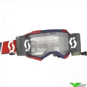 Scott Fury WFS Motocross Goggle with Roll-off - Red / Blue