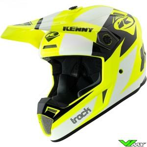 Kenny Track Motocross Helmet - Fluo Yellow / White