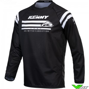 Kenny Track Raw 2021 Youth Motocross Jersey - Black