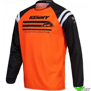 Kenny Track Raw 2021 Youth Motocross Jersey - Fluo Orange
